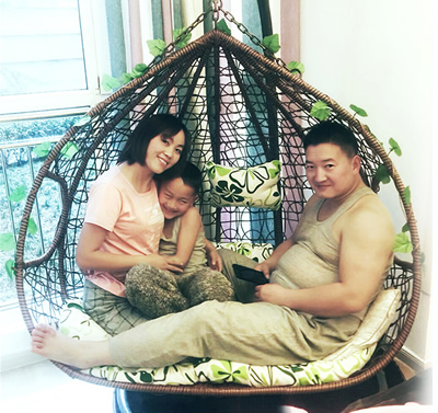 Wicker Basket Swing Chair